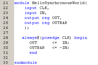 Hello Synchronous World - The Sensitivity List