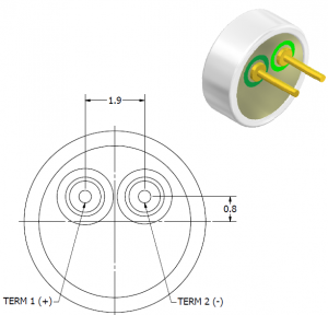 PUI Audio Microphone drawing from datasheet