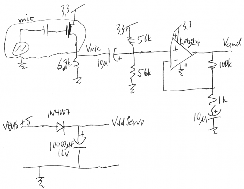 Microphone amplifier schematic